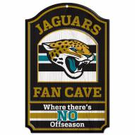 Jacksonville Jaguars Fan Cave Wood Sign