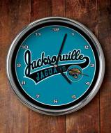 Jacksonville Jaguars NFL Chrome Wall Clock