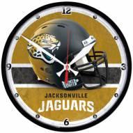 Jacksonville Jaguars Round Chrome Wall Clock