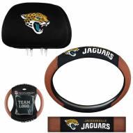 Jacksonville Jaguars Steering Wheel & Headrest Cover Set