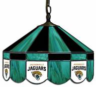 "Jacksonville Jaguars NFL Team 16"" Diameter Stained Glass Pub Light"