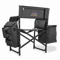 James Madison Dukes Gray/Black Fusion Folding Chair