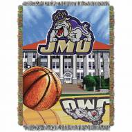 James Madison Dukes Home Field Advantage Throw Blanket