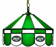 "New York Jets NFL Team 16"" Diameter Stained Glass Pub Light"