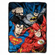 Justice League Micro Raschel Throw Blanket