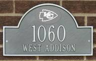 Kansas City Chiefs NFL Personalized Address Plaque - Pewter Silver