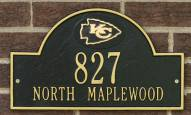 Kansas City Chiefs NFL Personalized Address Plaque - Black Gold