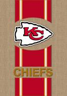 Kansas City Chiefs Burlap Flag
