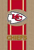 Kansas City Chiefs Burlap Garden Flag