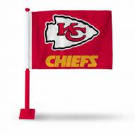 Kansas City Chiefs Car Flag with Red Pole