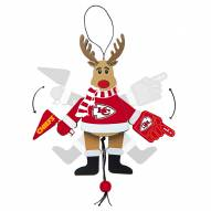Kansas City Chiefs Cheering Reindeer Ornament
