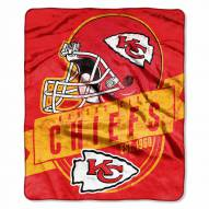 Kansas City Chiefs Grand Stand Raschel Throw Blanket