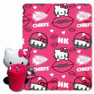 Kansas City Chiefs Hello Kitty Blanket & Pillow