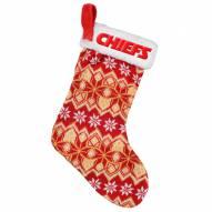 Kansas City Chiefs Knit Christmas Stocking