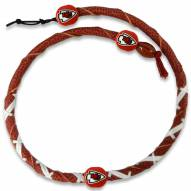 Kansas City Chiefs Leather Football Necklace