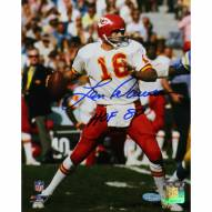 "Kansas City Chiefs Len Dawson Dropping Back w/ HOF Signed 16"" x 20"" Photo"