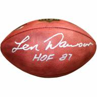 Kansas City Chiefs Len Dawson HOF Signed NFL Duke Football