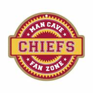 Kansas City Chiefs Man Cave Fan Zone Wood Sign