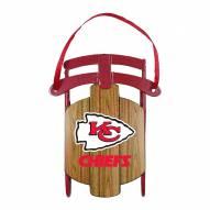 Kansas City Chiefs Metal Sled Tree Ornament