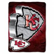 Kansas City Chiefs Micro Raschel Bevel Blanket