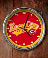 Kansas City Chiefs NFL Chrome Wall Clock