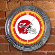 Kansas City Chiefs NFL Neon Wall Clock