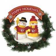 Kansas City Chiefs NFL Team Snowmen Christmas Wreath