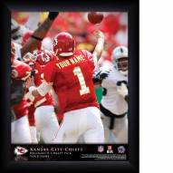 Kansas City Chiefs Personalized NFL Action QB Framed Print