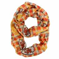 Kansas City Chiefs Plaid Sheer Infinity Scarf