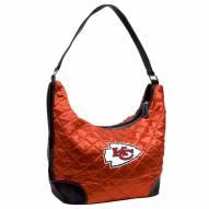 Kansas City Chiefs Quilted Hobo Handbag