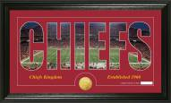 Kansas City Chiefs Silhouette Bronze Coin Panoramic Photo Mint