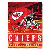 Kansas City Chiefs Silk Touch Stacked Blanket
