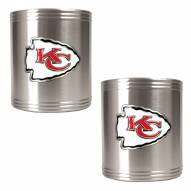 Kansas City Chiefs Stainless Steel Can Coozie Set