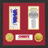 Kansas City Chiefs Super Bowl Ticket Collection Framed