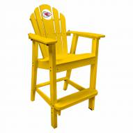 Kansas City Chiefs Yellow Pub Captain Chair