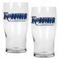 Kansas City Royals 20 oz. Pub Glass - Set of 2