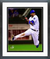 Kansas City Royals Alcides Escobar 2014 World Series Action Framed Photo