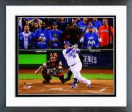 Kansas City Royals Billy Butler 2014 World Series Action Framed Photo