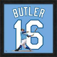 Kansas City Royals Billy Butler MLB Uniframe Framed Jersey Photo