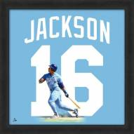 Kansas City Royals Bo Jackson Uniframe Framed Jersey Photo
