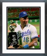 Kansas City Royals Bo Jackson with All-Star Game MVP Trophy Framed Photo