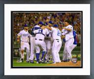 Kansas City Royals Celebrate Clinching the 2015 Central Division title Framed Photo