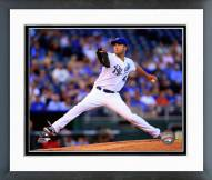 Kansas City Royals Danny Duffy 2014 Action Framed Photo