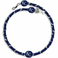 Kansas City Royals Frozen Rope Color Baseball Necklace