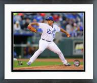 Kansas City Royals Jason Vargas 2014 Action Framed Photo