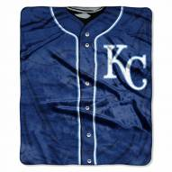 Kansas City Royals Jersey Raschel Throw Blanket