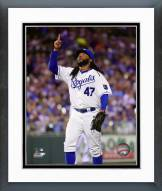 Kansas City Royals Johnny Cueto 2015 Action Framed Photo