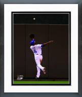 Kansas City Royals Lorenzo Cain 2014 World Series Action Framed Photo