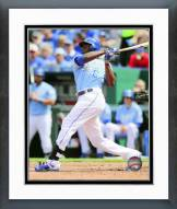 Kansas City Royals Lorenzo Cain 2015 Action Framed Photo