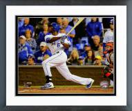 Kansas City Royals Lorenzo Cain Game 6 of the 2014 World Series Action Framed Photo